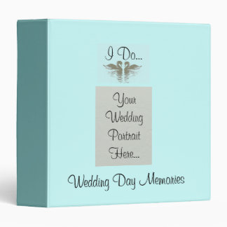 Swans in Love Wedding Vow Personalized Photo Album 3 Ring Binder
