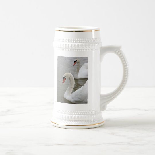 Swans in the lake beer stein