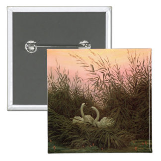 Swans in the Reeds, c.1820 Pinback Button
