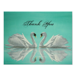 swans 4.25x5.5 paper invitation card