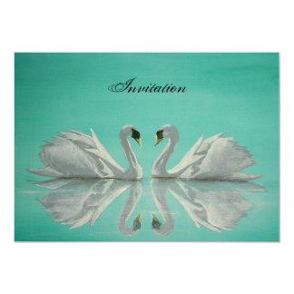 Swans 5x7 Paper Invitation Card
