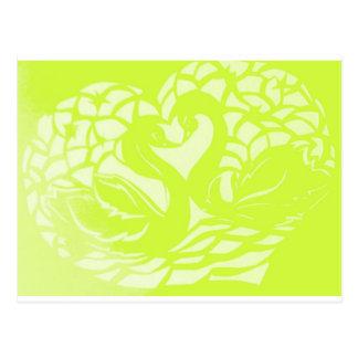 swans jpg verde tarjetas postales
