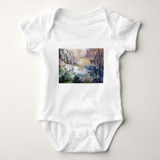 Swans Lake painting Baby Bodysuit
