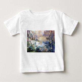 Swans Lake painting Baby T-Shirt