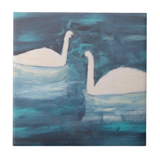 SWANS LOVER SMALL SQUARE TILE