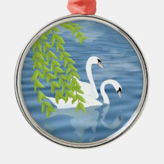 Swans Metal Ornament