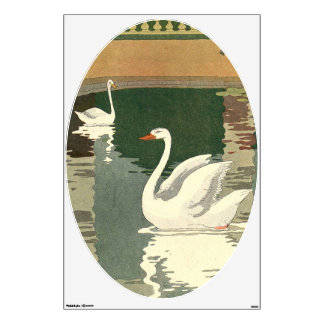 Swans on Castle Lake Room Stickers