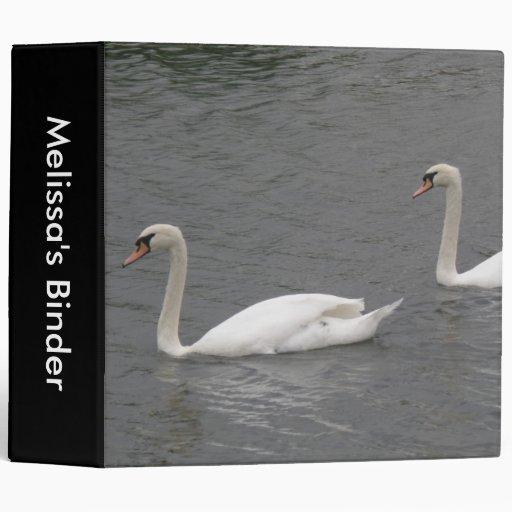Swans on the River Custom Binder