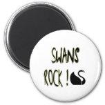 Swans Rock! Magnet
