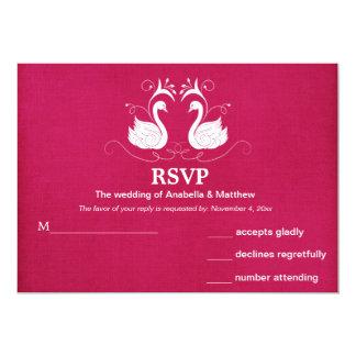Swans RSVP 5x7 Paper Invitation Card
