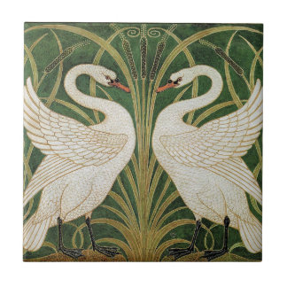 Swans, Rush & Iris by Walter Crane Tiles