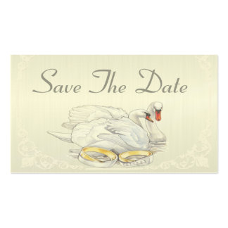 Swans - Save The Date Card Business Card