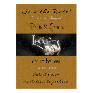 Swans Save the Date Card Large Business Card