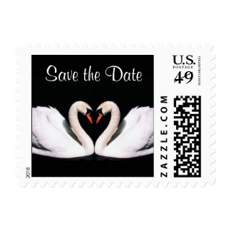 Swans Save the Date Stamps