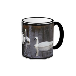 Swans Swimming Coffee Mug