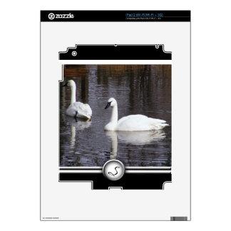 Swans Swimming Skin For iPad 2
