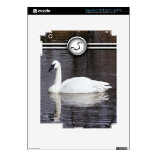 Swans Swimming Skins For iPad 3