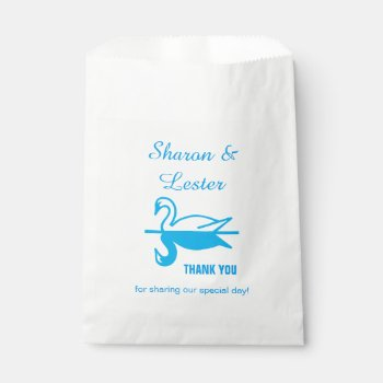 Swans Thank You Favor Bag