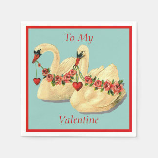 Swans Valentine Disposable Napkin