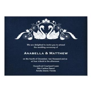Swans wedding card