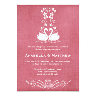 Swans wedding card