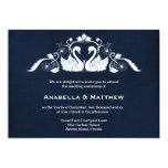 Swans wedding personalized announcement
