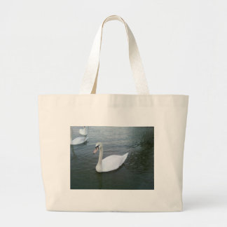 Swans White Jumbo Tote Bag