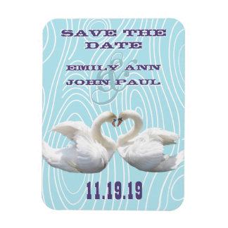 Swans Woodgrain Save the Date Flexible Magnet