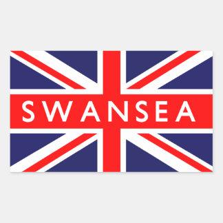 Swansea British Flag Rectangular Stickers