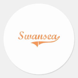 Swansea Illinois Classic Design Round Sticker