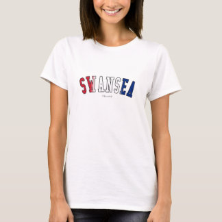 Swansea in United Kingdom national flag colors T-Shirt