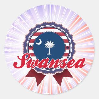 Swansea SC Round Stickers