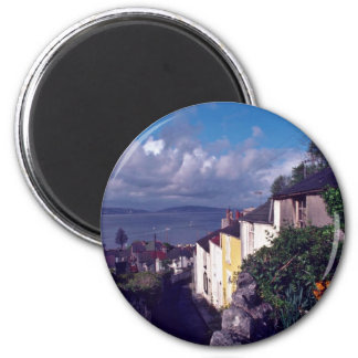 Swansea, The Mumbles, Village Lane (Circa 1580) fl 2 Inch Round Magnet