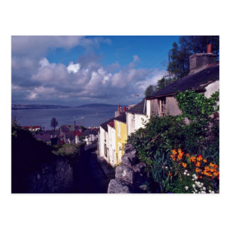 Swansea, The Mumbles, Village Lane (Circa 1580) fl Postcard