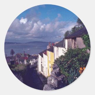 Swansea The Mumbles Village Lane Circa 1580 fl Round Sticker