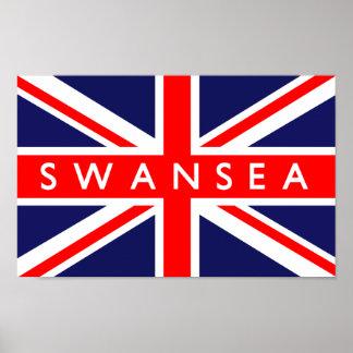 Swansea UK Flag Poster