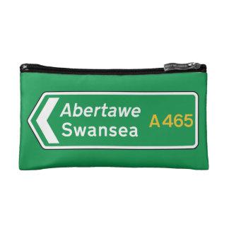 Swansea, UK Road Sign Makeup Bag