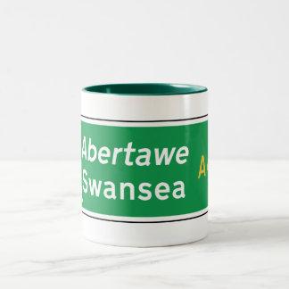 Swansea UK Road Sign Mugs