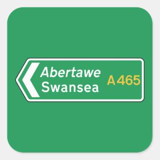 Swansea UK Road Sign Stickers