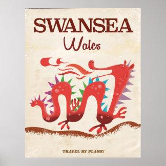 Swansea Wales Dragon poster