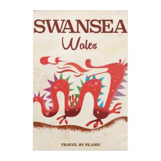 Swansea Wales Dragon poster Acrylic Print
