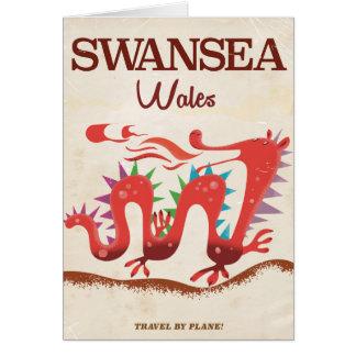 Swansea Wales Dragon poster Card