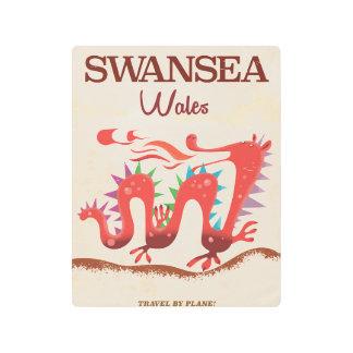 Swansea Wales Dragon poster Metal Photo Print