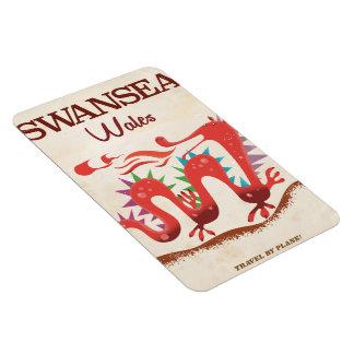 Swansea Wales Dragon poster Rectangular Photo Magnet