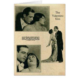 Swanson, Valentino 1922 vintage portrait card