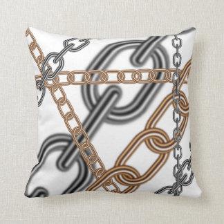 SwansonDesign Chain Pattern Four Throw Pillow
