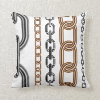 SwansonDesign Chain Pattern Three Throw Pillow