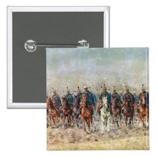 Swansong of the Hussars, 1931 2 Inch Square Button