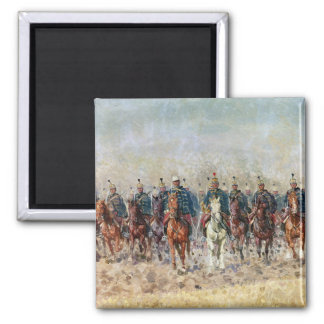 Swansong of the Hussars, 1931 2 Inch Square Magnet