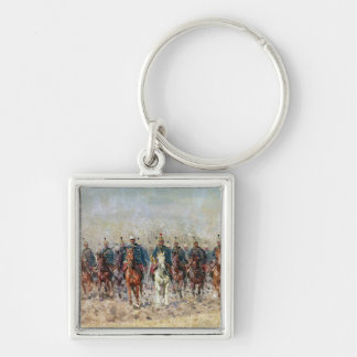 Swansong of the Hussars, 1931 Silver-Colored Square Keychain